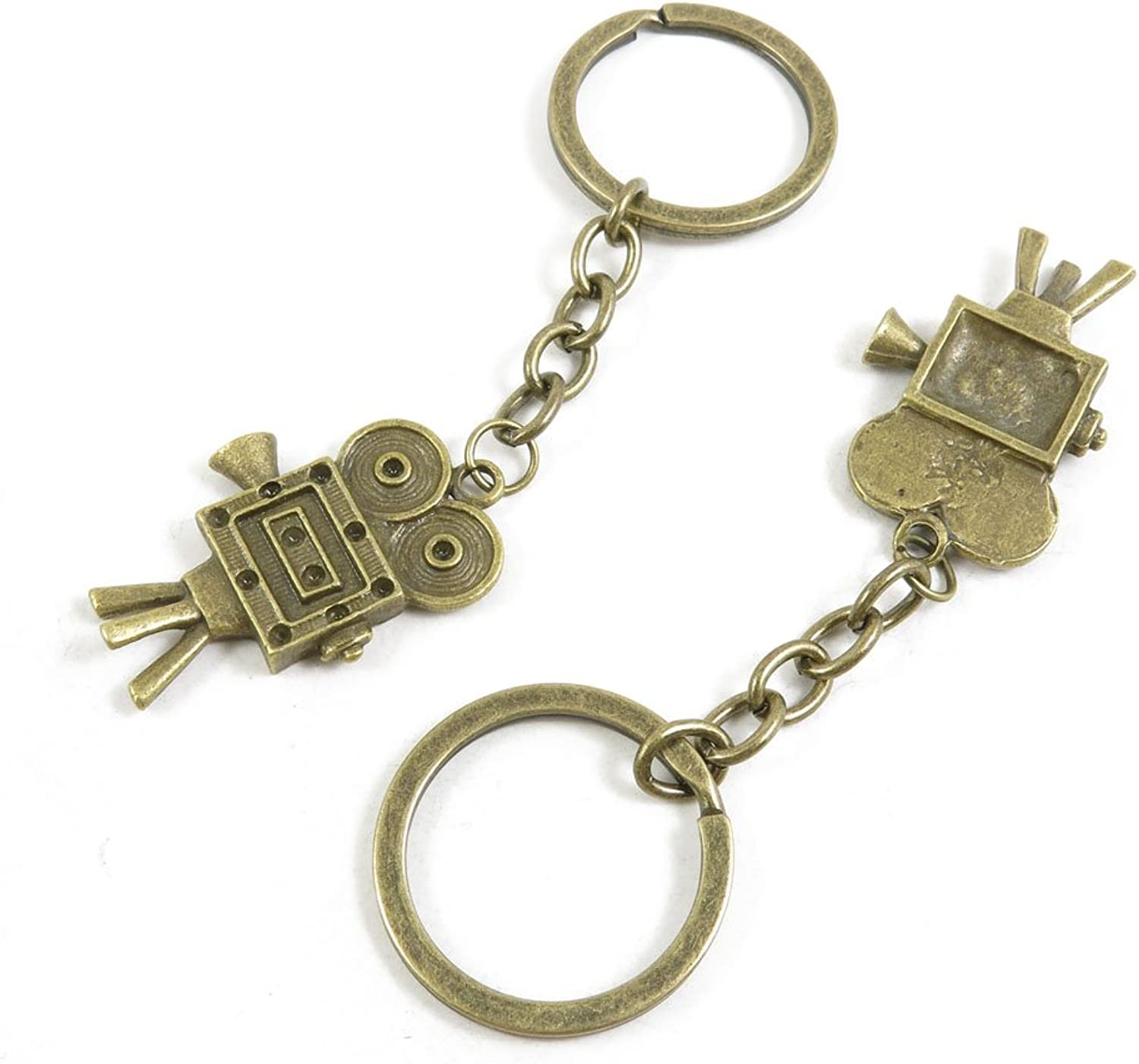 120 Pieces Fashion Jewelry Keyring Keychain Door Car Key Tag Ring Chain Supplier Supply Wholesale Bulk Lots T2UQ6 Vintage Projector