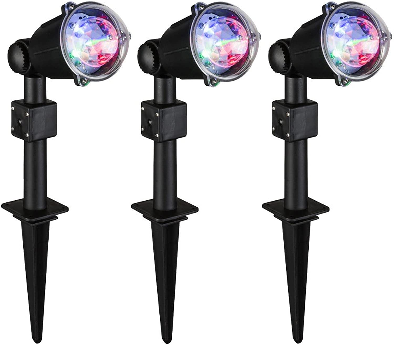 Hochwertiges 3er Set RGB LED Steck Leuchte Farbwechsler Grundstück Party Lampe