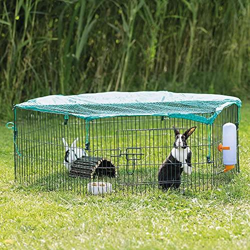 Trixie natura 6elementi Outdoor Run per giovani animali con rete, 58x 38cm