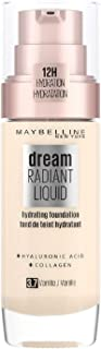 Maybelline New York Dream Radiant Liquid - 3.7 Vanilla Foundation Geschikt voor de Droge Huid met Hyaluronzuur 30 ml,