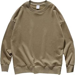 Men's Long Sleeve Thicken Warm Crewneck Fleece Pullover Sweatshirt