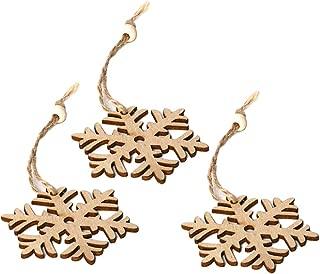 smallwoodi Christmas Pendant,3Pcs Wooden Hollow Blank Slices Pendants DIY Crafts Christmas Tree Ornaments Christmas Tree Decoration
