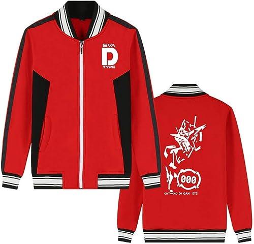 Costume Mobile Gundam Anime Bomber Veste Collège Baseball Vestes Cosplay Costume Zipper Sweat-Shirt Manteau voituredigan (Couleur   rouge 7, Taille   L)