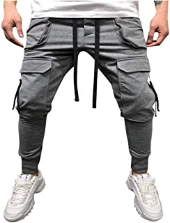 3600ef032e83ab Allywit Men's Jogger Sweatpants Workout Running Slim Fit Sports with Pocket  Trousers for Gym Training