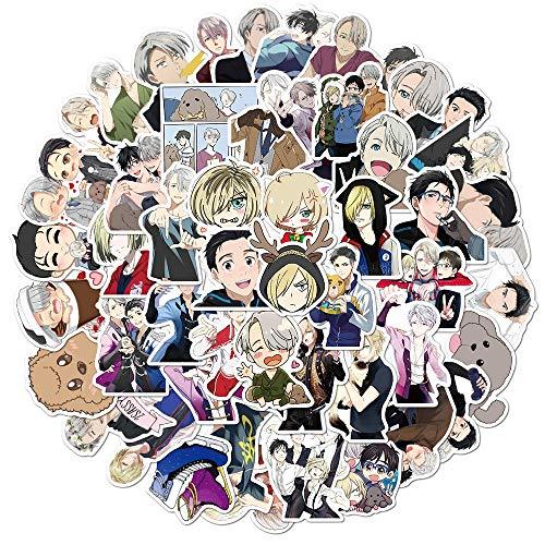 WUWEI Pegatina de Juguete para niños, Regalo, Casco DIY, portátil, Bicicleta, Maleta, papelería, Patinaje artístico, Pegatina de Anime, 50 Uds.