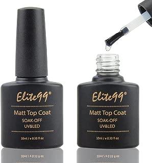 Elite99 Matte Top Coat Soak Off UV LED Gel Polish Nail Art Matting Sealer 10ml