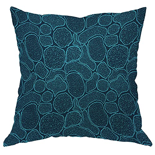 WONDERTIFY Virus Cells Under The Electron Microscope Pillow Covers Microbes Bacteria in The Scanning View Throw Pillow Covers Cushion Case for Sofa Couch Home Decor 24x24 INCH