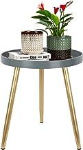 طاولة جانبية مستديرة منتصف القرن ، طاولة خشبية لهجة للأماكن الصغيرة ، طاولة طاولة طاولة القهوة لطاولة غرفة المعيشة غرفة ال...