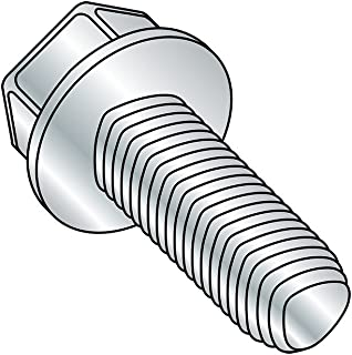 Pack of 100 Slotted Drive #6-32 Thread Size Zinc Plated 1//2 Length Steel Thread Rolling Screw for Metal Hex Washer Head