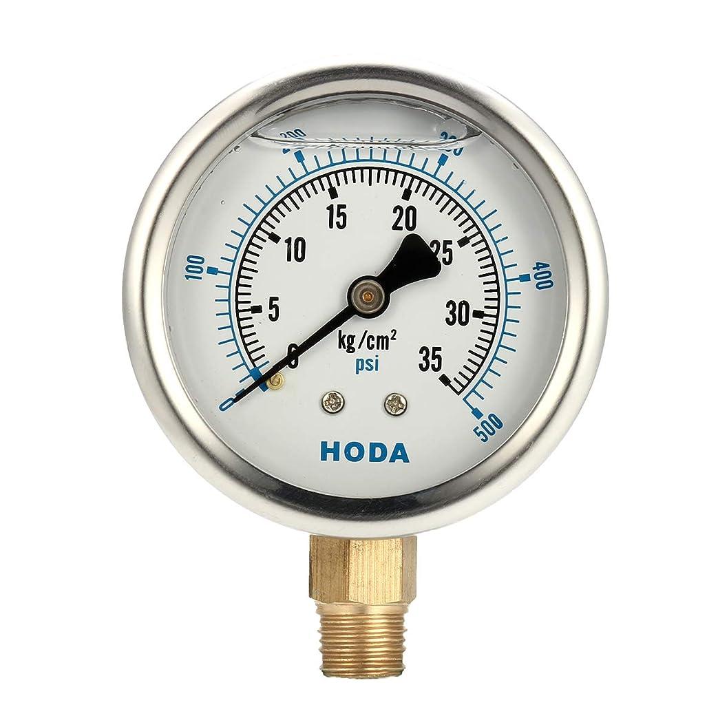 ネズミ先生キウイQueenwind 油圧ゲージ液充填 0-500 PSI 0-35KG エアウォーターゲージゲージ AIP