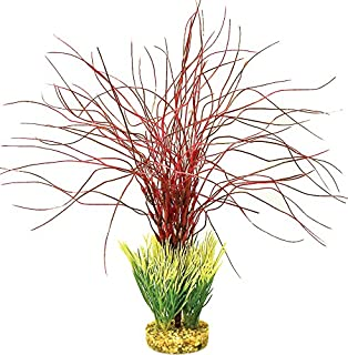 Blue Ribbon Pet Products ABLCB2013RD Water Hair Grass Plant for Aquarium, Red
