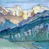 Poster 60 x 60 cm: Jungfrau, Mönch und Eiger von Ferdinand