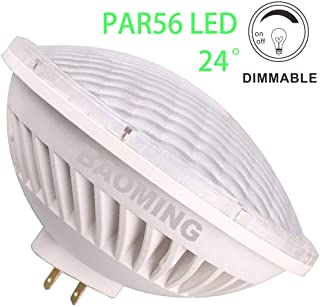 BAOMING Par56 LED Bulbs,Dimmable Light 300W Equivalent PAR56 Halogen Replacement,LED PAR56 28W 24°Deg Spot Light Warm White (2700~3000K) AC/120V GX16D Base