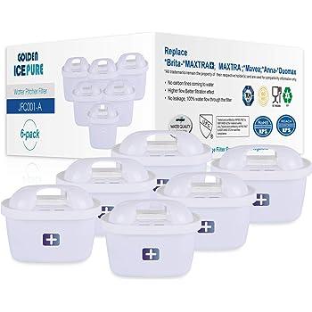 Sostituzione filtro acqua per Brita Maxtra +, Brita Maxtra, Mavea, Anna Duomax di GOLDEN ICEPURE (6 pezzi)