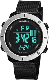 スマートウォッチ メンズスポーツのデジタル腕時計 - 警報/タイマーが付いている屋外の防水スポーツの腕時計、走っている人のためのLEDのバックライトが付いている大きい表面軍の腕時計