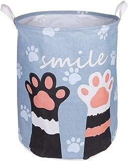 MJY Panier à linge grande corbeille à linge Jouet rangement pique-nique Panier Boîte Toile Animal Lavage Boîte à Vêtements...
