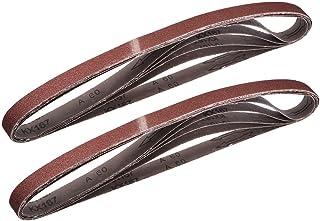 """1""""x 42"""" 60 Grit Sanding Belt Aluminiumoxid Sandpapper Bälten för Bärbar Strip Slipmaskin Efterbehandling Metal Gips Poleri..."""