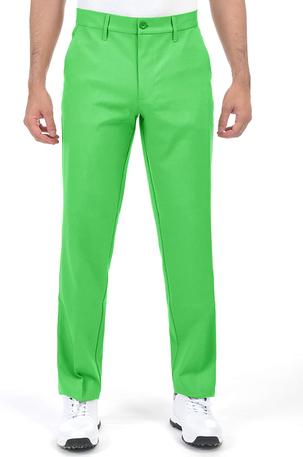 Men's Golf Tapered online shopping Pants New sales Plaid Stretch Li Khaki Relaxed Tech Fit