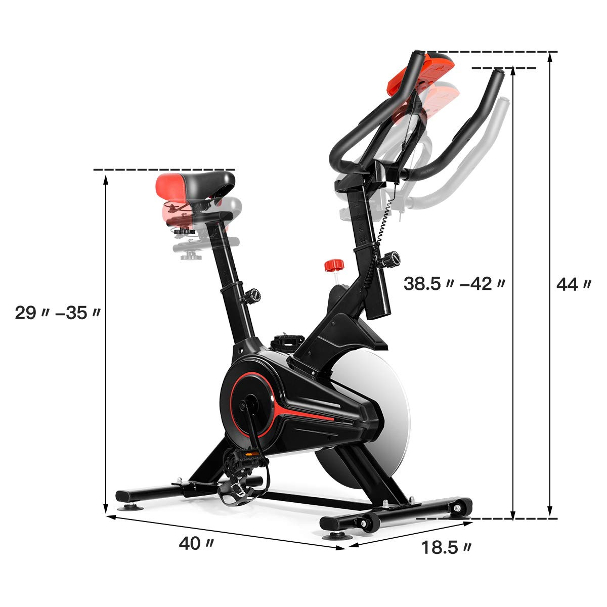 Details about  /Indoor Cycling Bike Exercise Cycle Trainer Fitness Cardio Workout LCD Display