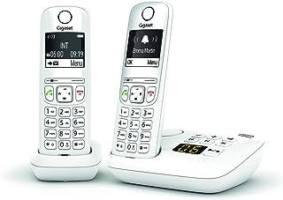 T/él/éphone fixe sans fil avec r/épondeur Gigaset AS690A Noir