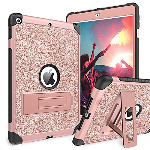 CRFYJ For Ipad7th 10.2 Air 3rd Pro10.5 Case Cover with Pencil Holder Auto Sleep Smart Cover Funda Capa for 9.7 Ipad 2017 2018 Air Air2 (Color : Shining Pink, Size : For Ipad 2 3 4)