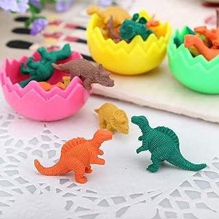 32 Dinosaurier Eier Radiergummi Sets mit kleinen Gummi Dinosaurier Spielzeug Mini Radiergummi Set für Kinder Party Favors Kinder Geburtstag Party Tasche Füllstoffe Geburtstagsgeschenk für Jungen