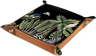 BestIdeas Panier de rangement carré 20,5 × 20,5 cm, avec animaux africains, boîte de rangement sur table pour la maison, l...