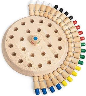 Mumoo Bear New Children Wooden Memory Matchstick Chess Game, Educational Intelligent Logic Game and Brainteaser Children E...