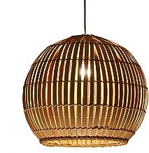 Estilo de la dinastía china Tang Restaurante escandinavo simple Luces Esfera Arte Tejido de ratán Estudio japonés Salón Lámpara de bambú E27 (Tamaño: 50 * 50 * 43 cm)