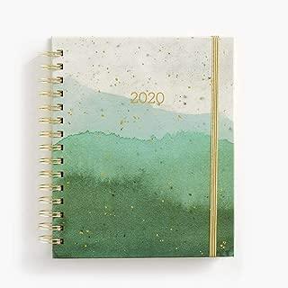 2020 Emerald Glaze Medium Spiral Planner, by Waste Not Paper