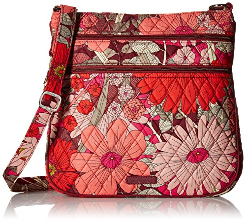 Vera Bradley Signature Cotton Triple Zip Hipster, Lilac Tapestry