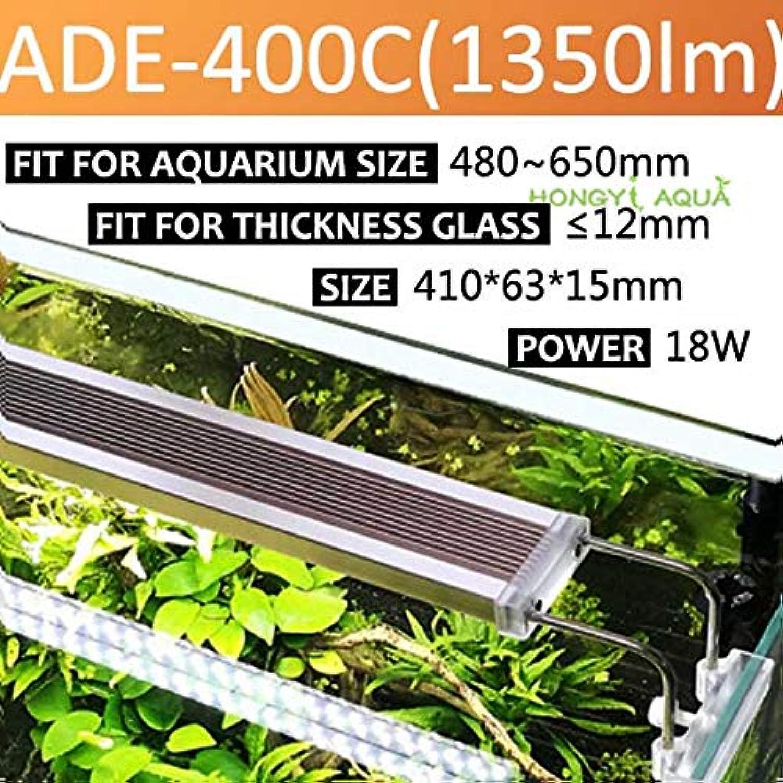 Pukido 1 Piece Glass ADE Series Slim Aquarium LED Light Lighting Plants Grow Light Aquarium Plant Lights 12W 14W 18W 24W  (color  ADE 400C 18W)