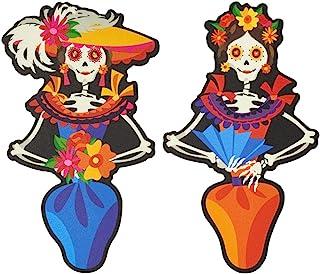 Dia de los Muertos Day of the Dead Skeleton Poly Cake Layon Decorations - 2 pc