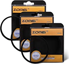 Zomei 52MM 3 Pieces +4 +6 +8 Points Star Filter Lens Filters Kit for Nikon D3300 D3200 D3100 D3000 D5300 D5200 D5100 D5000 D7000 D7100 DSLR Camera, Made of HD Glass and Aluminum Frame Material