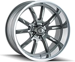 Ridler 650 Grey/Polished Lip Wheel Finish (18 x 8. inches /5 x 120 mm, 0 mm Offset)
