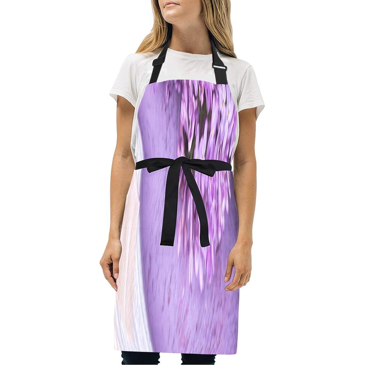 小川香ばしい分解するJLDG シンプルエプロン 紫色の地色 花 ギフトボックス 首掛け ポケット付 シワになりにくい 汚れにくい 調整可能 防水 仕事用 家庭用 男女兼用 カフェ風 70*73cm 台所 レストラン シェフ クッキング