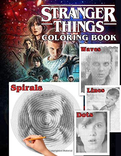 Stranger Things Dots Lines Spirals Waves Coloring Book: Chal