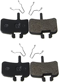 Juscycling Resin Organic Semi-Metal Brake Pads for Hayes FX-Mag HMX MX1 MX-1 Hayes 9 HMX-2 HFX9 Mag MX,Smooth Braking,Low Noise, Long Life, Kevlar, Copper, 2 Pairs