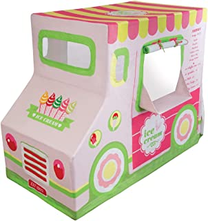 Pacific Play Tents 67000 Kids Cotton Canvas Ice Cream Truck Playhouse, 50