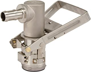 """Graco 17C908 Micro Matic RSV Dispense Coupler, 3/4"""" Barbed Outlet, Stainless Steel"""