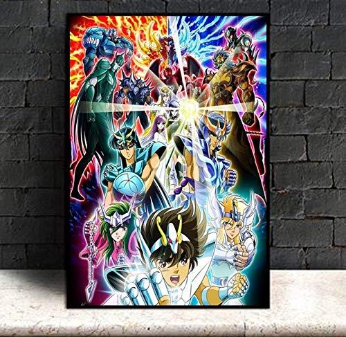 AJleil Puzzle 1000 Piezas Anime Saint Seiya Star Imagen Decoración Pintura Regalo Puzzle 1000 Piezas Juego de Habilidad para Toda la Familia, Colorido Juego de ubicación.50x75cm(20x30inch)