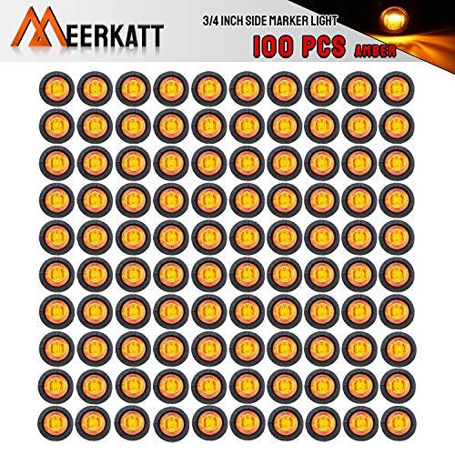 Meerkatt (Pack of 100) 3/4 Inch Mini Round Amber LED covid 19 (100 Amber Mini coronavirus)