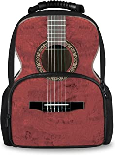 Coloranimal Fashion Music Guitar Printing Men Travel Boys School Backpack