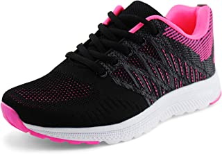 JABASIC Women Casual Breathable Running Sneakers Lightweight Tennis Shoes