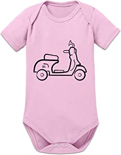 Shirtcity Scooter Silhouette Baby Strampler by