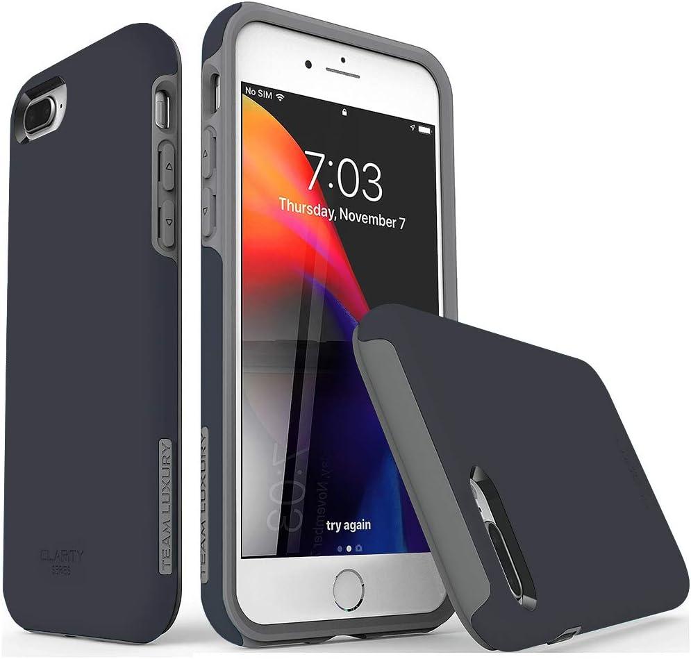 TEAM LUXURY iPhone 7 Plus case/iPhone 8 Plus case, [Clarity Series] Ultra Defender TPU + PC Shock Absorbent Protective Case - for Apple iPhone 7 Plus & 8 Plus 5.5