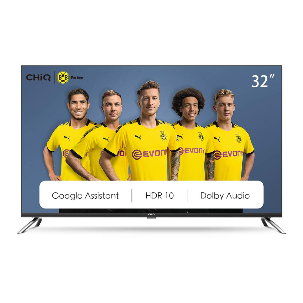 CHiQ Televisor Smart TV LED 32 Pulgadas, HD, HDR10/HLG, Android 9.0, WiFi, Bluetooth, Google Assistant, Netflix, Prime Video HDMI, USB: Amazon.es: Electrónica