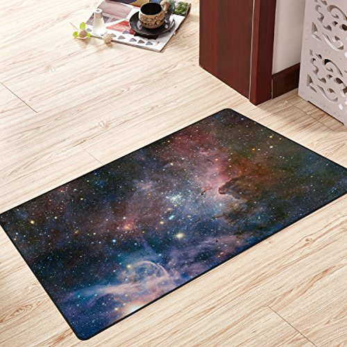 """Price comparison product image My Little Nest Galaxy Space Cloud Modern Area Rug 20"""" x 31"""" for Bedroom Dining Room Living Room Floor Mat Lightweight Carpet"""