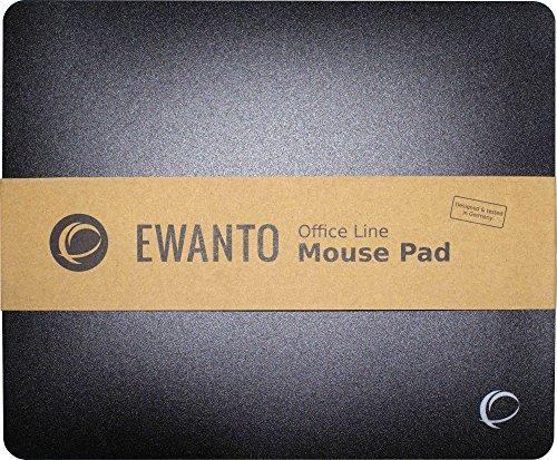 EWANTO Office Line Mauspad Schwarz mit Soft Slide Oberfläche