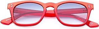 Saraghina - Eyewear - Gafas de sol para hombre, 100% fabricadas en Italia, color rojo, cristal gris ahumado